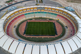 Naghsh-e Jahan Stadium is prepared for the new edition of the Persian Gulf Pro League, Isfahan, Iran, August 17, 2019.