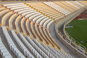 Shahid Mahdavi Stadium is prepared for the new edition of the Persian Gulf Pro League, Bushehr, Iran, August 17, 2019.
