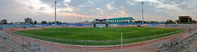 Sirjan's Imam Ali Stadium is prepared for the new edition of the Persian Gulf Pro League, Kerman, Iran, August 17, 2019.
