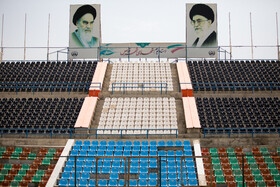 Shahr-e Qods Stadium is prepared for the new edition of the Persian Gulf Pro League, Tehran, Iran, August 17, 2019.