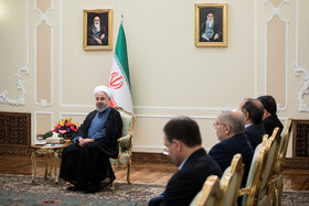 Iranian President Hassan Rouhani is seen during his meeting with new ambassadors in Tehran, Iran, August 18, 2019.