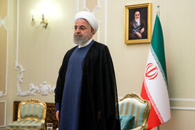 Iranian President Hassan Rouhani is seen on the sidelines of his meetings with new ambassadors in Tehran, Iran, August 18, 2019.