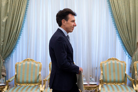 New Italian ambassador in Tehran is seen on the sidelines of his meeting with Iranian President Hassan Rouhani, Tehran, Iran, August 18, 2019.