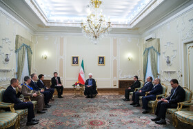 Meeting between Iranian President Hassan Rouhani and new Italian ambassador in Tehran, Iran, August 18, 2019.