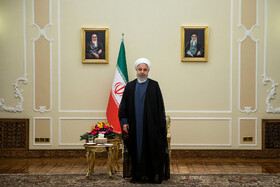 Iranian President Hassan Rouhani is seen on the sidelines of his meeting with new ambassadors in Tehran, Iran, August 18, 2019.