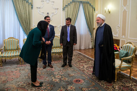 On the sidelines of the meeting between new Afghan ambassador in Tehran (2nd, R) and Iranian President Hassan Rouhani (R), Tehran, Iran, August 18, 2019.