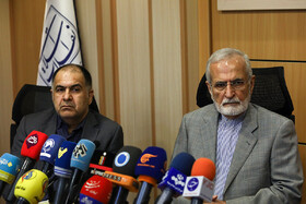 Head of Iran's Strategic Council on Foreign Relations Kamal Kharrazi (R) is present in a ceremony for launching three new languages of French, Spanish and Russian for Khamenei.ir, the official website of Ayatollah Ali Khamenei, Tehran, Iran, August 19, 2019.