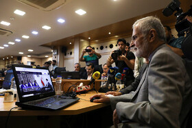 Head of Iran's Strategic Council on Foreign Relations Kamal Kharrazi is present in a ceremony for launching three new languages of French, Spanish and Russian for Khamenei.ir, the official website of Ayatollah Ali Khamenei, Tehran, Iran, August 19, 2019.