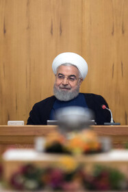 Iranian President Hassan Rouhani is present in Iran's weekly cabinet session, Tehran, Iran, August 21, 2019.