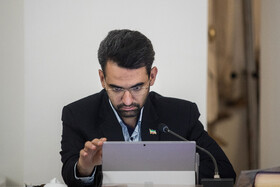 Iran's Information and Communications Technology Minister Mohammad Javad Azari Jahromi is present in Iran's weekly cabinet session, Tehran, Iran, August 21, 2019.
