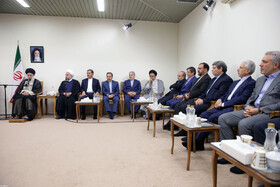 Meeting between Iran's Supreme Leader Ayatollah Ali Khamenei, Iranian President Hassan Rouhani and his cabinet Ministers ahead of martyrdom anniversary of Mohammad Javad Bahonar and Mohammad Ali Rajaei and National Government Week in Iran, August 21, 2019.