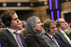 Foreign guests are present during the unveiling ceremony of Bavar-373 air defense system with Iranian President Hassan Rouhani in attendance, Tehran, Iran, August 22, 2019.