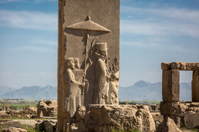 The entrance of Hadish Palace, the exclusive building of Xerxes I, is seen in the photo, Shiraz, Iran, August 24, 2019. Due to the serious damages to this part of Persepolis, there is little information about it. It is considered probable that fire at Persepolis started from Hadish Palace.