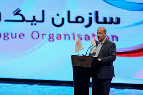 Chief of Iranian Football Federation Mehdi Taj delivers a speech in the award ceremony for bests of Iran's football, futsal and beach soccer, Tehran, Iran, August 24, 2019.