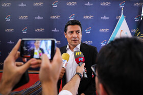 Football referee Alireza Faghani is present in the award ceremony for bests of Iran's football, futsal and beach soccer, Tehran, Iran, August 24, 2019.