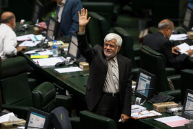 Mohammad Reza Aref, chairman of the pro-reform Hope faction in the parliament, is seen during the public session of Iran's Parliament, Tehran, Iran, August 25, 2019.