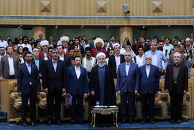 Ceremony for government's achievements in developing rural infrastructure, Tehran, Iran, August 26, 2019. The ceremony was held in the presence of Iranian President Hassan Rouhani and some of his cabinet ministers.