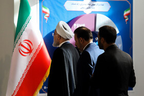 Iranian President Hassan Rouhani (L) is present during the ceremony for government's achievements in developing rural infrastructure, Tehran, Iran, August 26, 2019.