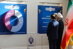 On the sidelines of the ceremony for government's achievements in developing rural infrastructure, Tehran, Iran, August 26, 2019. The ceremony was held in the presence of Iranian President Hassan Rouhani and some of his cabinet ministers.  The ceremony was held in the presence of Iranian President Hassan Rouhani and some of his cabinet ministers.