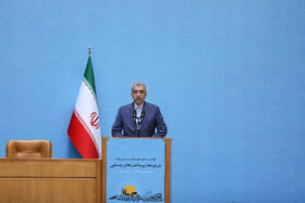 Iranian Energy Minister Reza Ardakanian delivers a speech during the ceremony for government's achievements in developing rural infrastructure, Tehran, Iran, August 26, 2019.