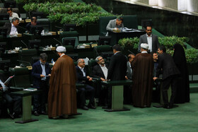 On the sidelines of the public session of Iran's Parliament, Tehran, Iran, August 27, 2019. Mohsen Haj Mirzaei, the proposed Iranian Education Minister attended in today's parliamentary session.