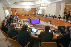 """Weekly session of Iran's cabinet ministers, Tehran, Iran, August 28, 2019. During the session Mr Rouhani said, """"Iran has cooperation and interaction with all countries around the world, except for those who have a hostile behaviour towards us. The fact that our country's exports have increased and we have developed in science and technology and we have good interaction with the world and our young people are studying in foreign universities all mean that we have cooperation and interaction with the world""""."""
