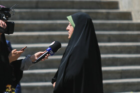 """On the sidelines of the weekly session of Iran's cabinet ministers, Tehran, Iran, August 28, 2019. During the session Mr Rouhani said, """"The fact that our country's exports have increased and we have developed in science and technology and we have good interaction with the world and our young people are studying in foreign universities all mean that we have cooperation and interaction with the world""""."""