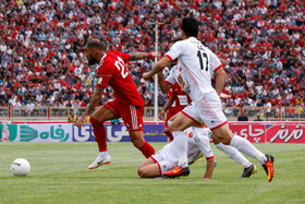 Match between Tractor Sazi Tabriz FC and Persepolis FC, Tabriz, Iran, August 30, 2019. Persepolis was defeated one-nil in this match.
