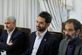 Iranian Minister of Information and Communication Technology Mohammad Javad Azari Jahromi (M) is present in the meeting of the Supreme Council of Cyberspace, Tehran, Iran, August 31, 2019.