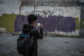 Farhad Rahimi, an Afghan emigrant who lives in Mashhad City and draws graffiti is seen in the photo, Iran, September 1, 2019.