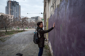Farhad spends some time every day to see his graffiti designs or to find a place for drawing new graffiti, Mashhad, Iran, September 1, 2019. Graffiti, which means drawings or writing on a wall, etc. in a public place, is a new kind of art that has drawn the attention of people especially the young as a way to show their complaints through art.