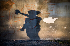 Farhad, an Afghan emigrant who lives in Mashhad City and draws graffiti, prepares to draw his graffiti, Mashhad, Iran, September 1, 2019. Graffiti, which means drawings or writing on a wall, etc. in a public place, conveys political, social and cultural messages.