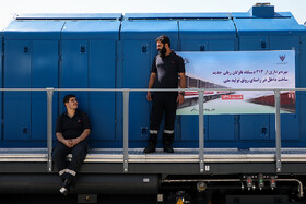In a ceremony, 213 new train cars are added to Iran's railroad network, Tehran, Iran, September 3, 2019.