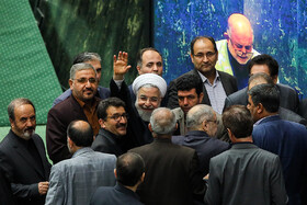 Iranian President Hassan Rouhani is present in the Parliamentary session, Tehran, Iran, September 3, 2019.