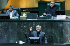 Proposed Education Minister Mohsen Haj Mirzaei delivers a speech in Iran's Parliamentary session, Tehran, Iran, September 3, 2019.