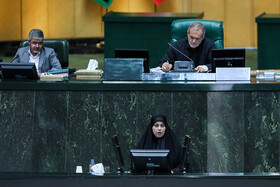 An MP delivers a speech in Iran's Parliamentary session, Tehran, Iran, September 3, 2019.
