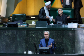 Proposed Cultural Heritage Minister Ali Asqar Mounesan is going to deliver a speech in Iran's Parliamentary session, Tehran, Iran, September 3, 2019.