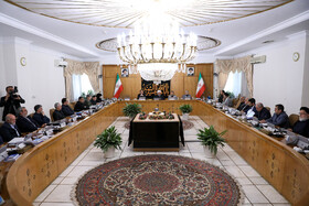 """Session of cabinet Ministers, Tehran, Iran, September 4, 2019. In this session, Iranian President Hassan Rouhani described the process of negotiations between Iran and the signatories to the Joint Comprehensive Plan of Action (JCPOA) progressive and stated that despite the settlement of a key part of disagreements with Europe, we have not reached the final agreement yet""""."""