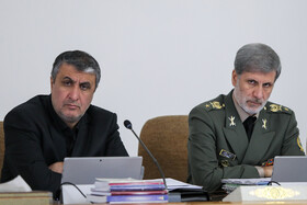 Iranian Defense Minister Brigadier General Amir Hatami (R) is present in the session of cabinet Ministers, Tehran, Iran, September 4, 2019.