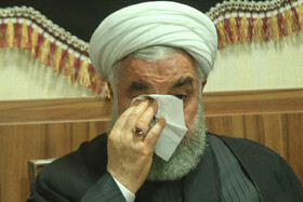 Iranian President Hassan Rouhani is present in the mourning ceremony for Imam Hussain (PBUH), Tehran, Iran, September 7, 2019.