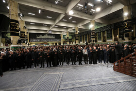 Second night of mourning ceremony for Imam Hussain (PBUH) in the presence of Iran's Supreme Leader Ayatollah Ali Khamenei and top officials, Tehran, Iran, September 7, 2019.
