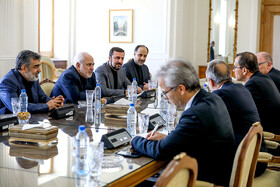 Meeting between Iranian Foreign Minister Mohammad Javad Zarif and Acting Director General of IAEA, Cornel Feruta, in the presence of their accompanying delegations, Tehran, Iran, September 8, 2019.