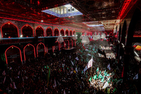 Holding mourning rites of Ashura at Imam Hussain Shrine