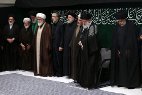 Holding the mourning ceremony of Sham-e Ghariban in the presence of Iran's Supreme Leader Ayatollah Ali Khamenei, Tehran, Iran, September 10, 2019.