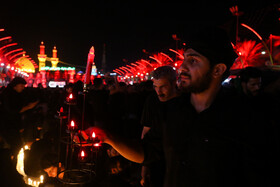 Holding the mourning ceremony of Sham-e Ghariban at Imam Hussain Holy Shrine, Karbala, Iraq, September 10, 2019.