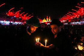 Sham-e Ghariban mourning at Imam Hussain Shrine