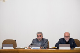 Iran's Energy Minister Reza Ardakanian (L) and Iranian Oil Minister Bijan Zanganeh are present in the session of Iran's cabinet ministers, Tehran, Iran, September 11, 2019.