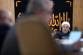 Iranian president Hassan Rouhani is present in the session of Iran's cabinet ministers, Tehran, Iran, September 11, 2019.