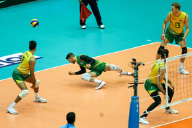 Volleyball match between Australia and Qatar at 2019 Asian Men's Volleyball Championship, Tehran, Iran, September 13, 2019.