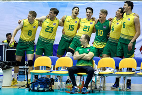 On the sidelines of the volleyball match between Australia and Qatar at 2019 Asian Men's Volleyball Championship, Tehran, Iran, September 13, 2019.